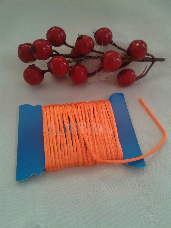 cordon ou cordelette orange rond long 5 mètres diamètre 0.02 cm