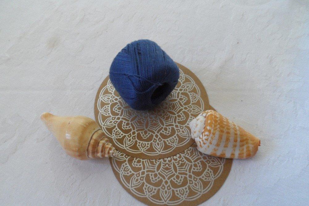 fils, coton à repriser, ou à broder couleur bleu, réf 1014,  100% coton, DMC