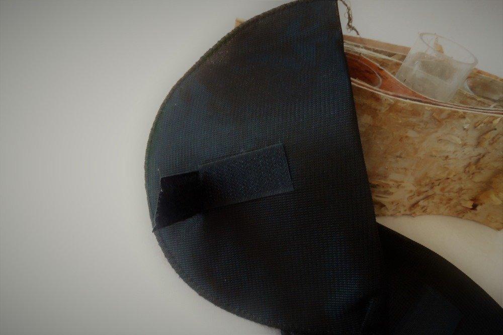 lot de 2 épaulettes pour gilet ou manteau coloris noir
