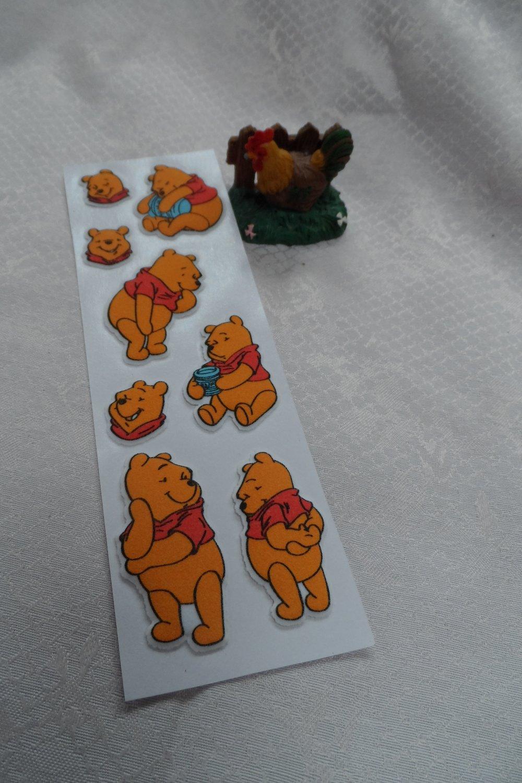 stickers, gommette, Disney, embellissement, autocollant,  winnie ourson 3D  et ses amis