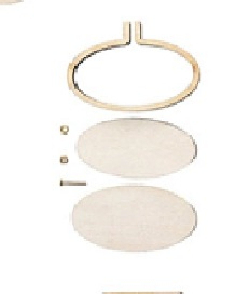 Kit mini tambour pour broderie ovale