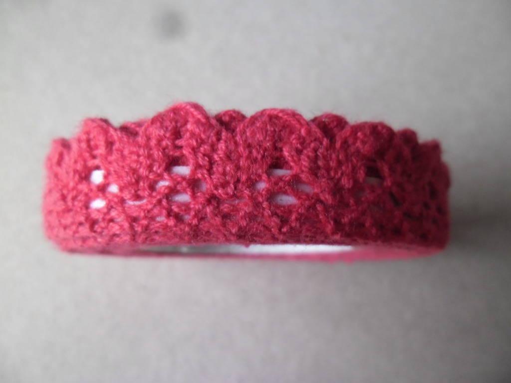 x 1,70 mètre de ruban adhésif dentelle rouge coton ajouré repositionnable 1,5 cm