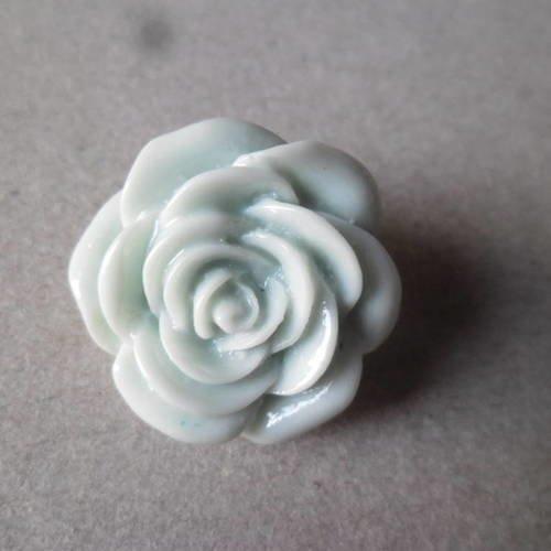 1 Bouton en Acrylique Fleur Or et Argenté 47mm Création de Bijoux