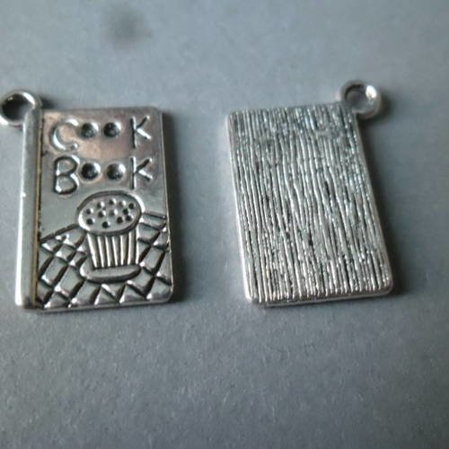 """LOT 10 PENDENTIFS perle breloques BRONZE /""""MADE FOR YOU/"""" 12 x 8mm CREATION BIJOUX"""