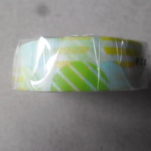 X 10 mètres de ruban mt masking tape adhésif à différents motifs et couleurs repositionnable 15 mm