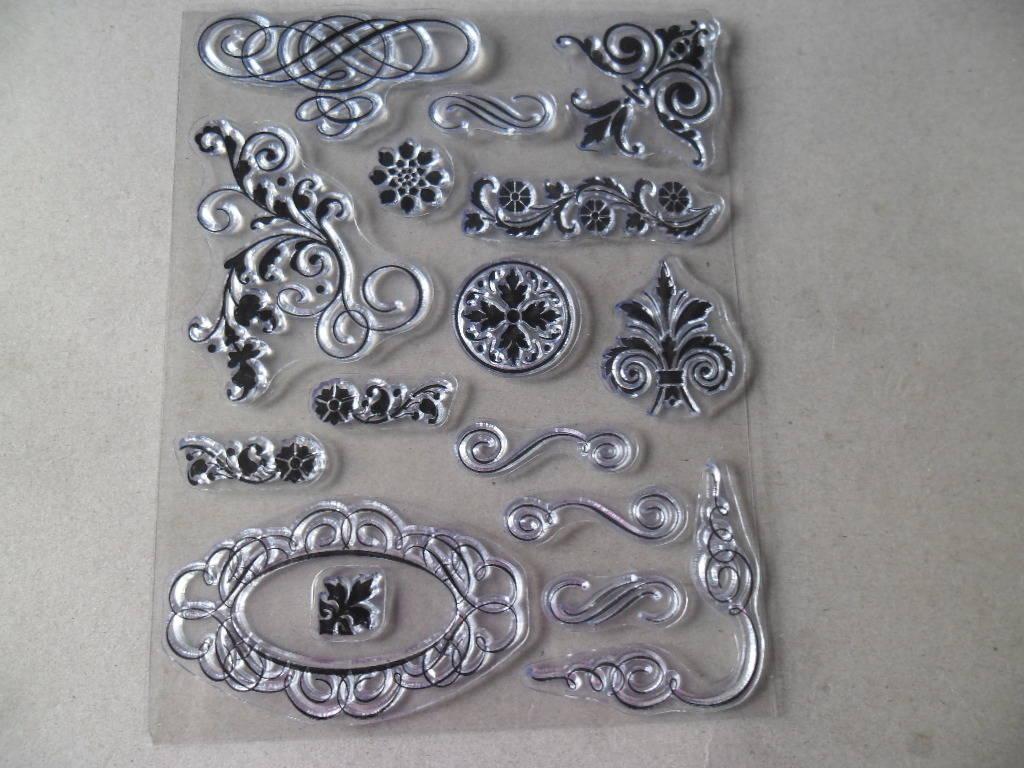x 16 tampons à monter/transparent  Artémio de différents motifs