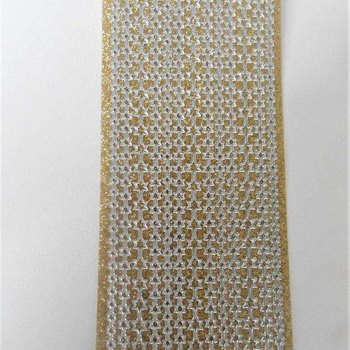 Stickers :  bandes d'étoiles dorées / argentées