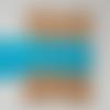 Dentelle coton bleu  40 mm