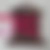 Ruban velours 10mm fuchsia