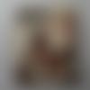 Bouton bois forme timbre 195