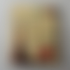 Bouton bois forme timbre 196