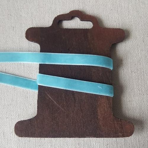 Ruban velours 10mm bleu ciel