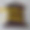 Ruban velours 10mm jaune