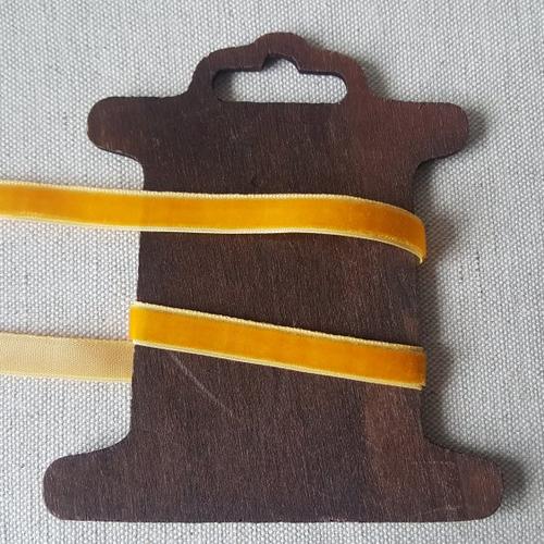 Ruban velours 10mm jaune orangé