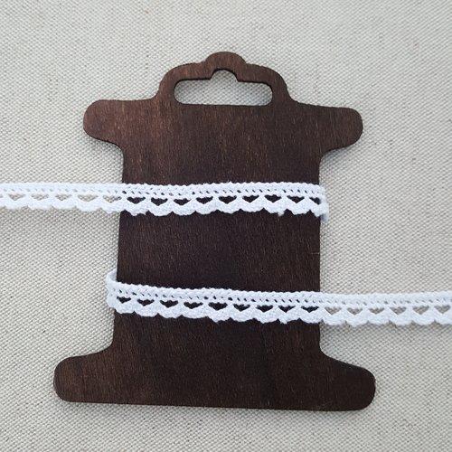 Dentelle blanche coton 10 mm