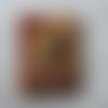 Bouton bois forme timbre 192