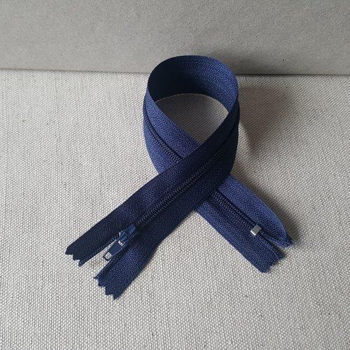 Fermeture bleu marine 25 cm