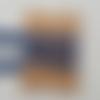 Dentelle coton bleu  15 mm