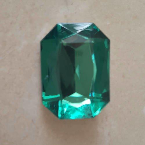 Lot de 5 gros strass verts 25 x 18  mm