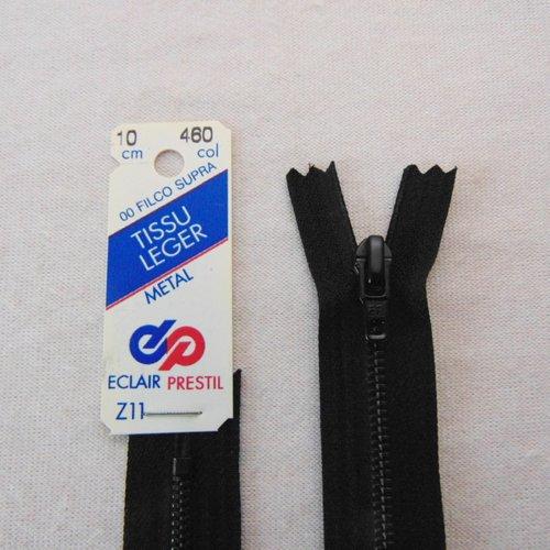 fermeture éclair à strass 18cm non séparable Z83 noir 460 maille moulée plastiqu