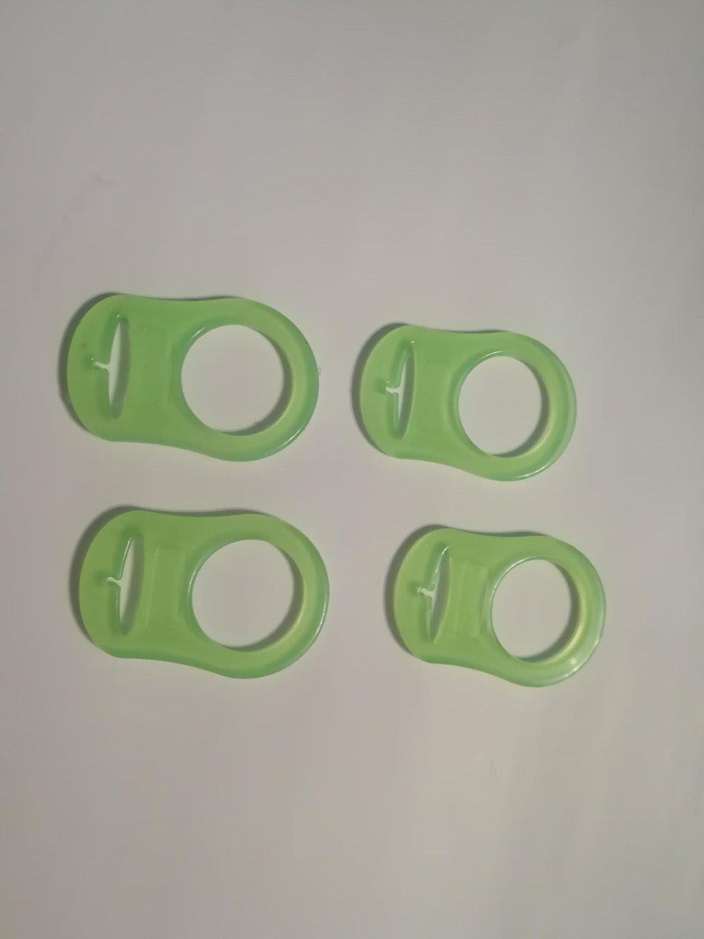 Adaptateur tétine vert en silicone