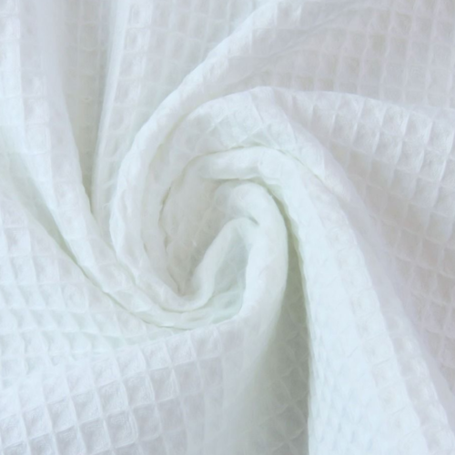 Éponge nid abeille 100% coton. coloris blanc