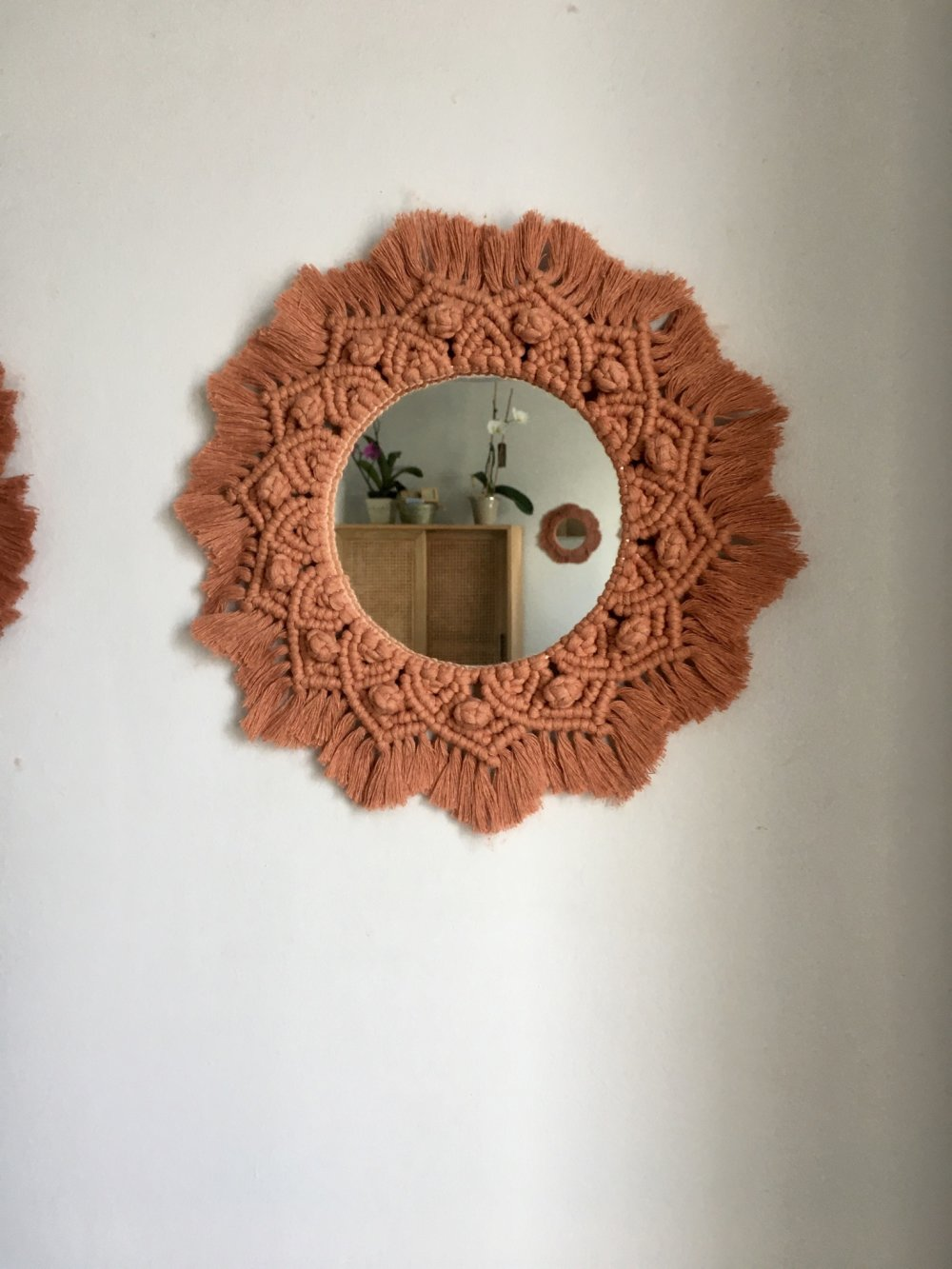 Miroirs macramé