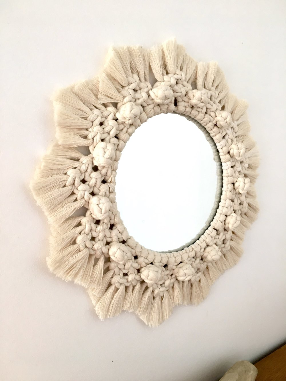 Miroir macramé