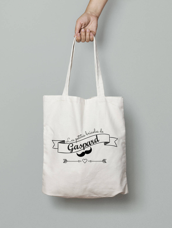 Tote bag personnalisé Vintage moustache, sac langer, tote bag enfant, cadeau enfant, tote bag personnalisé garçon, tote bag etsy