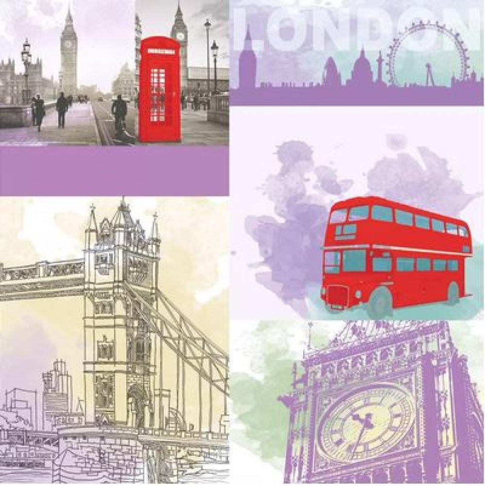 1 SERVIETTE EN PAPIER LONDRES - LONDON - REF 1713
