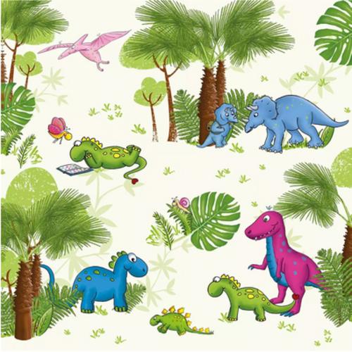 1 serviette en papier dinosaure - ref 1779