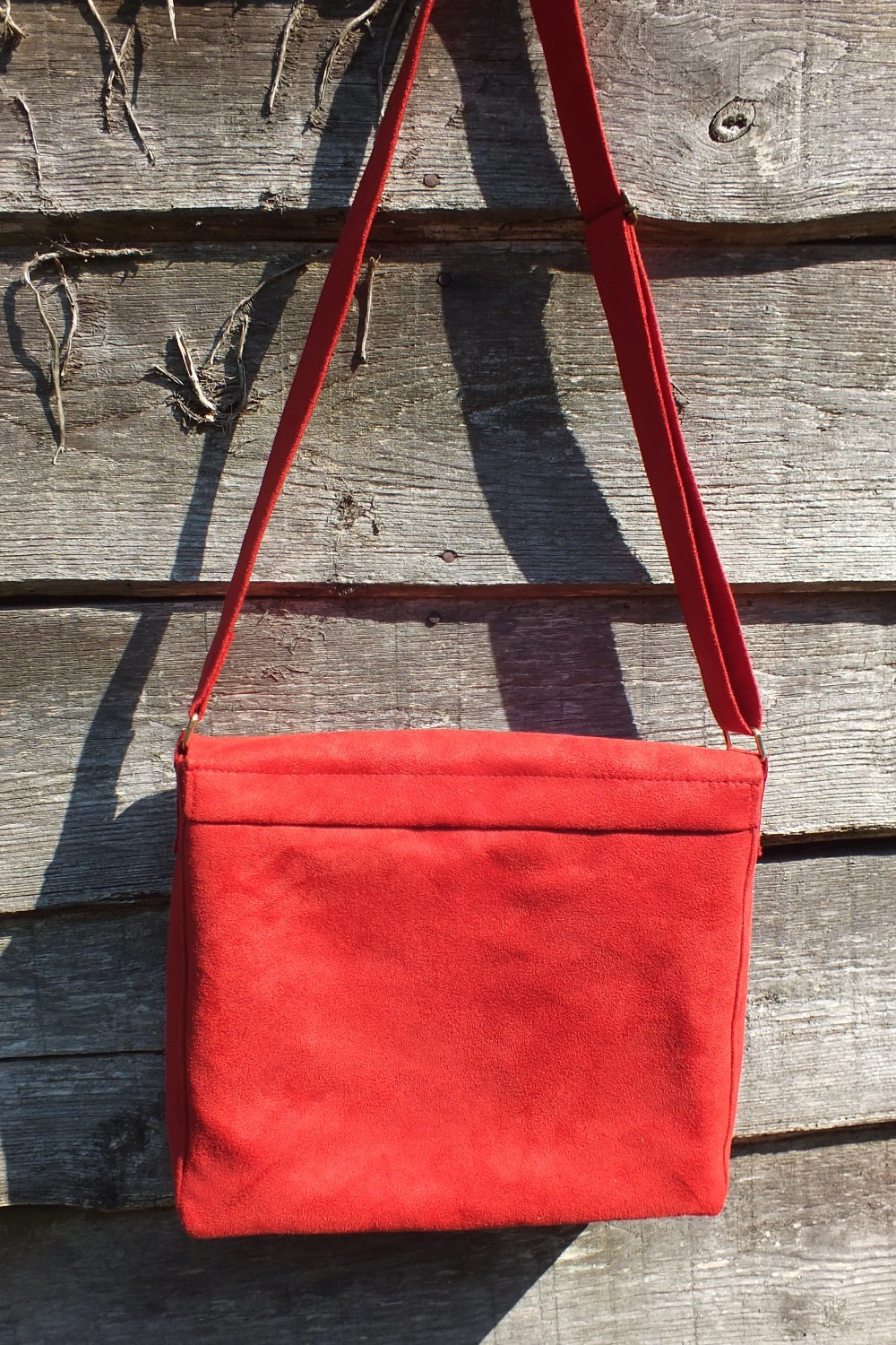 """Besace """"AUTHENTIC"""" rouge"""