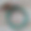 """Bracelet """"expression"""" en pierres naturelles turquoise d'afrique - 6 mm"""