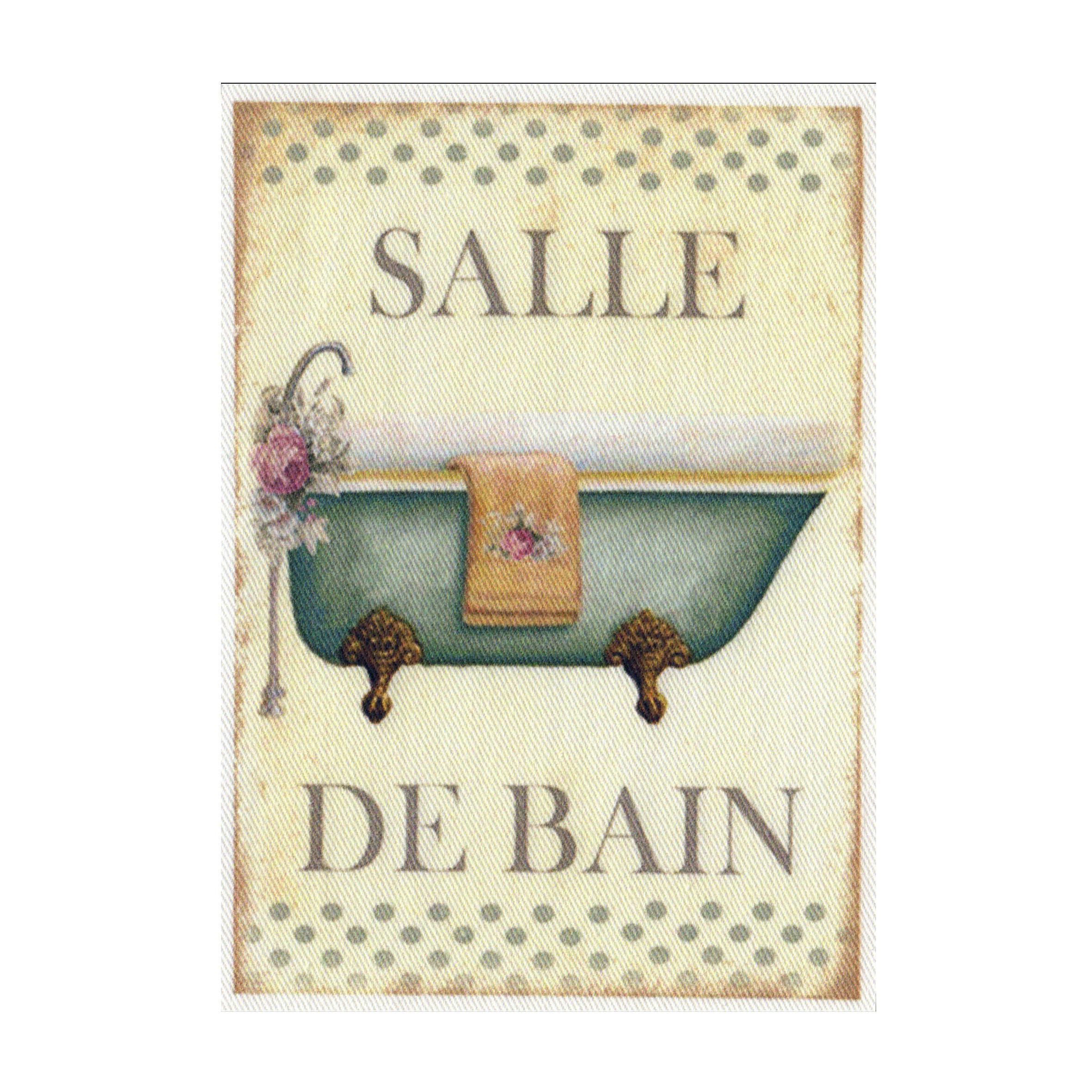 """Appliqué thermocollant - Collection """"Salle de bain"""" AT410-6"""