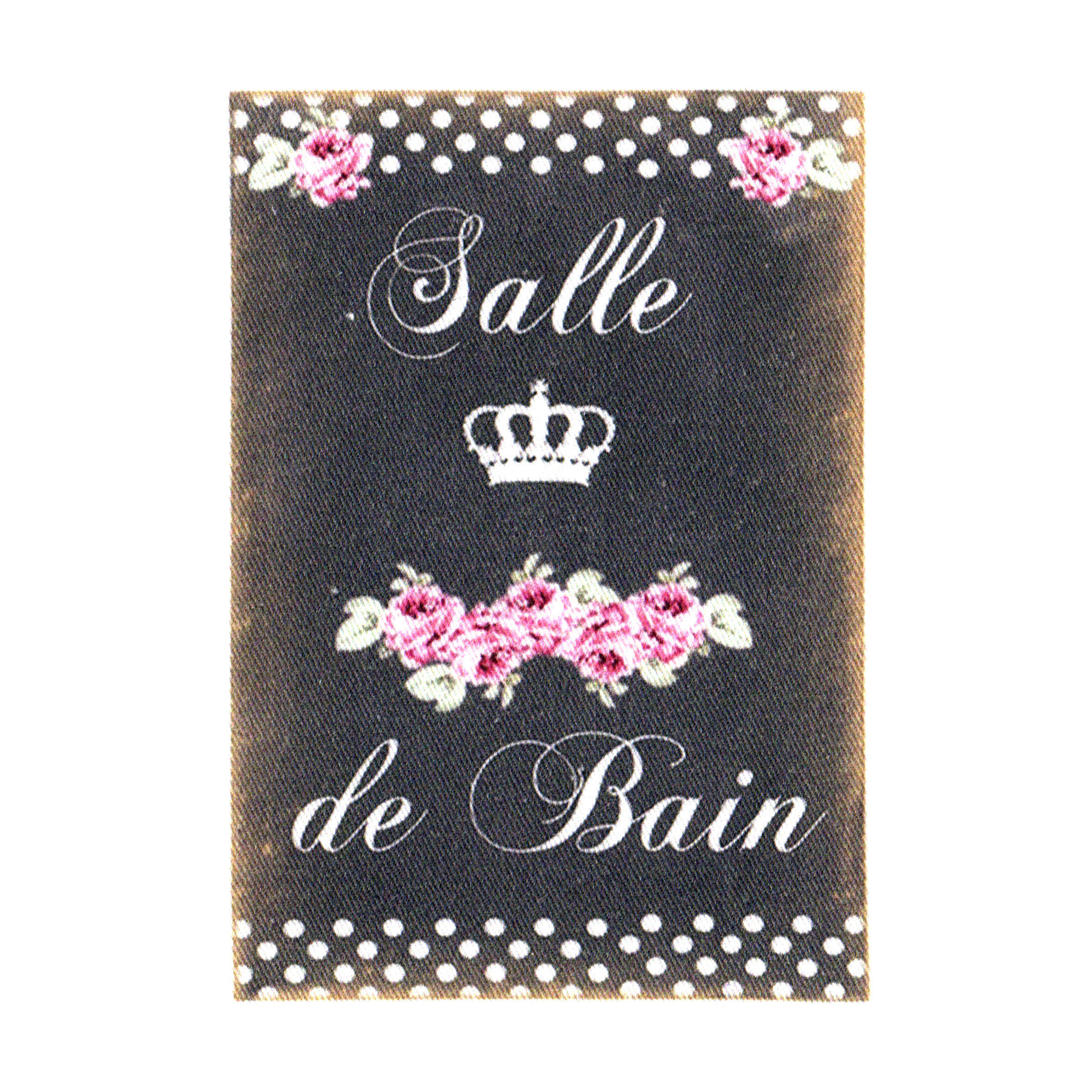 "Appliqué thermocollant - Collection ""Salle de bain fond chalk"" AT409-9"