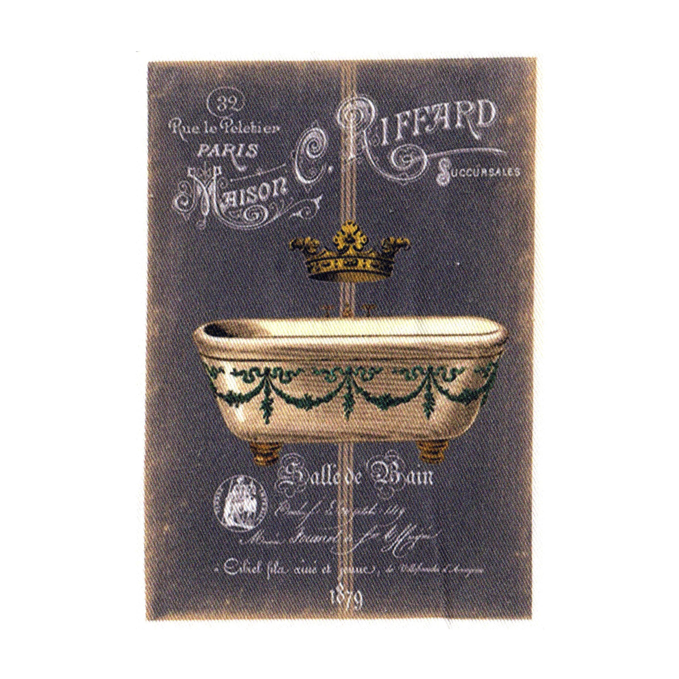 "Appliqué thermocollant - Collection ""Salle de bain fond chalk"" AT409-1"