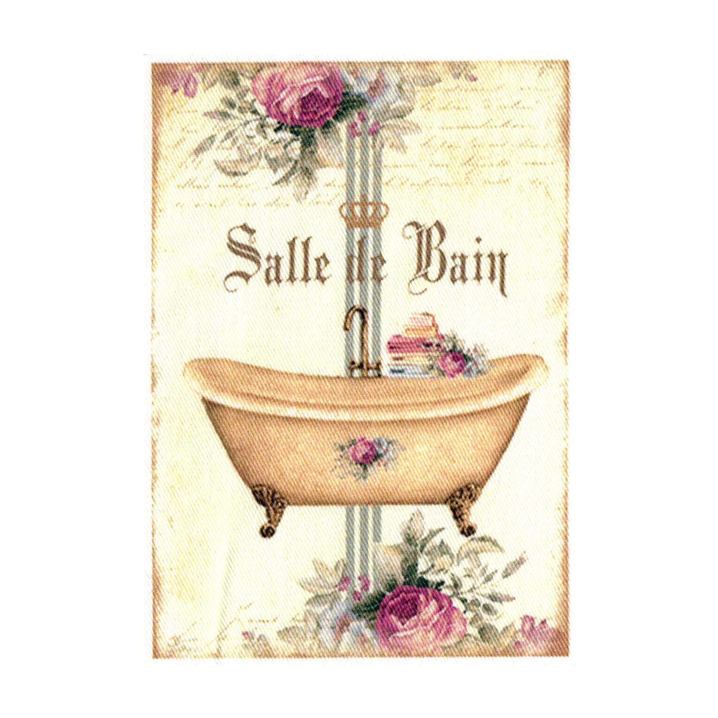 """Appliqué thermocollant - Collection """"Salle de bain"""" AT410-3"""