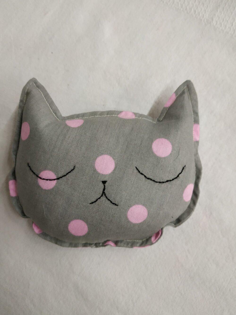 Bouillotte sèche tête de chat (graines de lin)