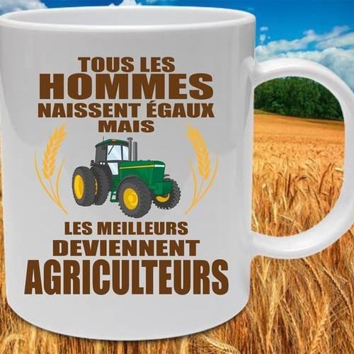 "Mug céramique blanc brillant ""agriculteur"""