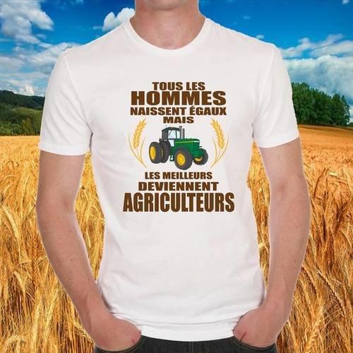 "T-shirt blanc ""agriculteur"""