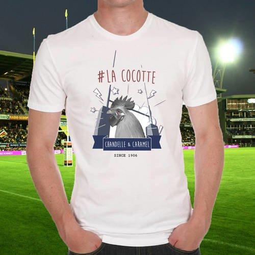 """T-shirt blanc """"la cocotte"""""""