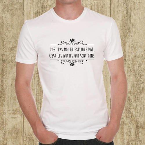 "T-shirt homme blanc ""cons"""