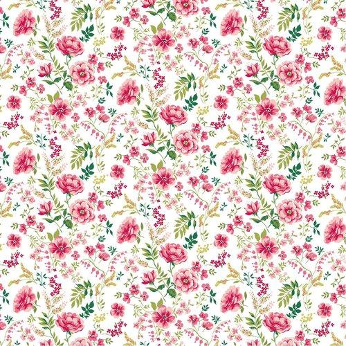 Popeline sweet flowers