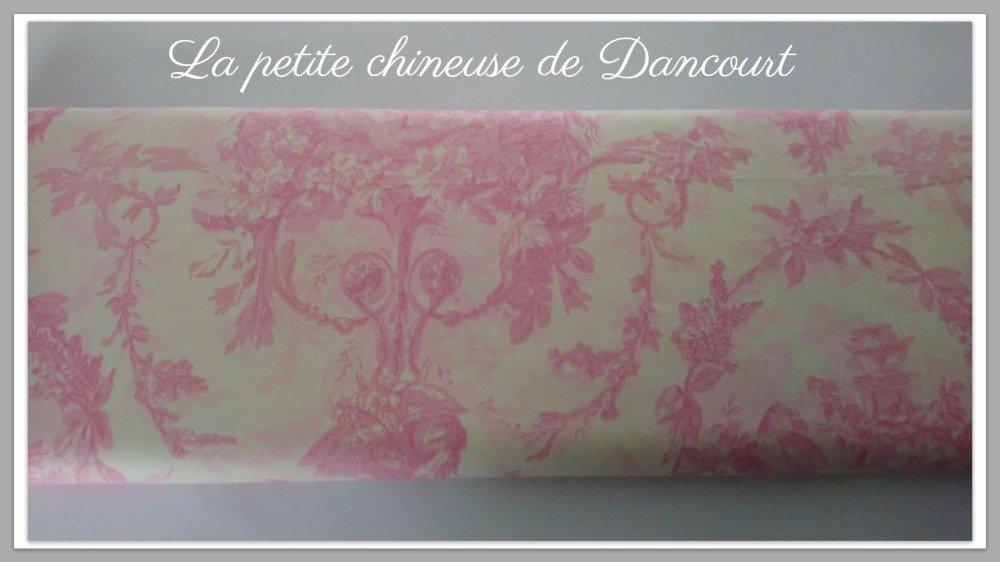 Tissus Mas d'Ousvan Mélmanie ivory pink