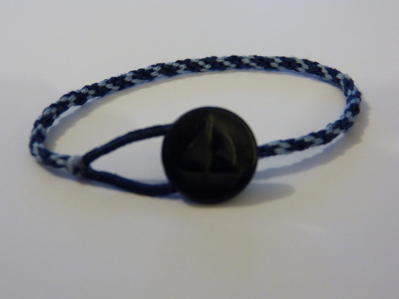 bracelet-bi colors bleu clair et marine