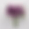 6 tiges d'étamines perlées et nacrées, violettes