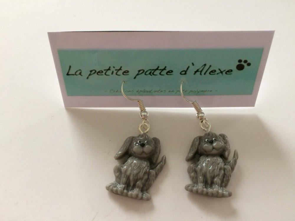 """Boucles d'oreilles """"Mes petits chiens gris"""""""