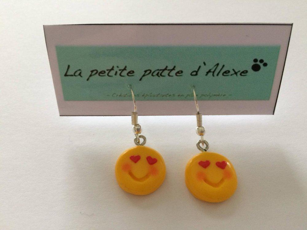 """Boucles d'oreilles Emojis """"amoureux"""""""