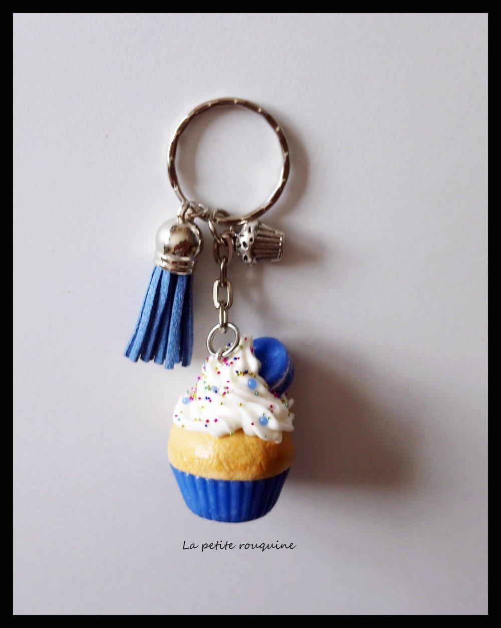 Porte-clefs gourmand Cupcake - FIMO