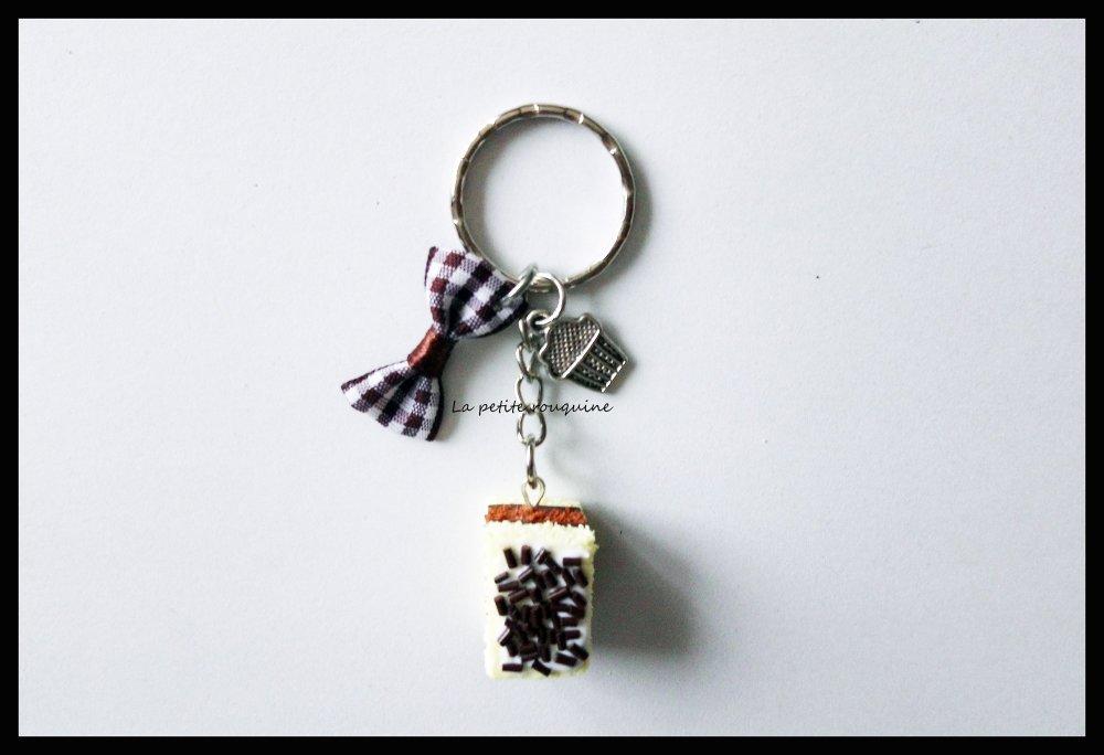 Porte-clefs gourmand Napolitain - FIMO
